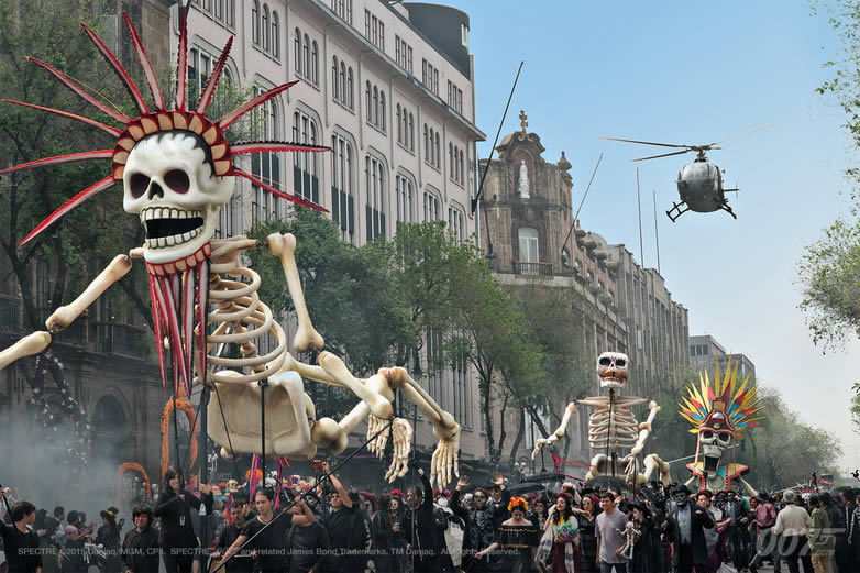 SPECTRE Day of the Dead Mexico