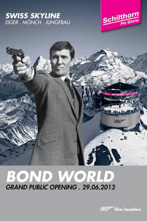 Schilthorn Bond World 007 VIP opening 2013