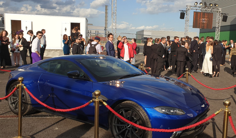 Aston Martin at Casino Royale in London