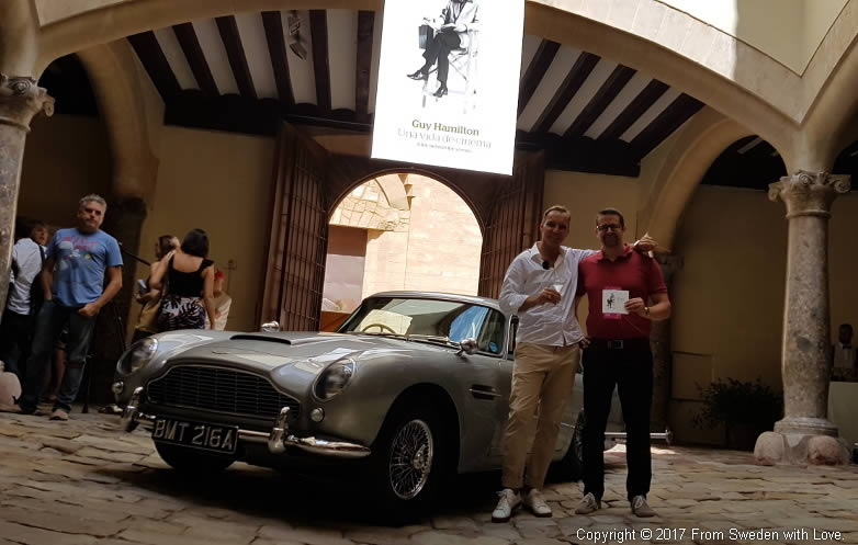 Steffen Appel and Anders Frejdh with the Aston Martin DB5