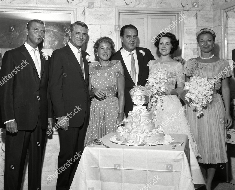 Cary Grant at Cubby Broccoli and Dana Wilson wedding in Las Vegas
