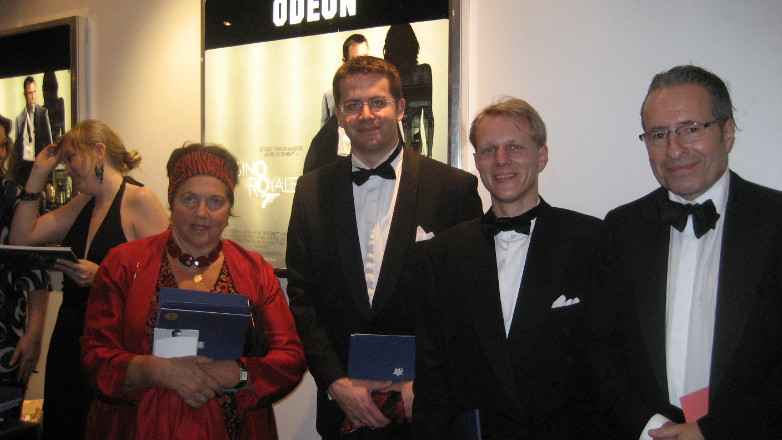 Professor Jane Somerville, Anders Frejdh, author Peter James and Erik Olsson at the World Premiere of Casino Royale in London 2006