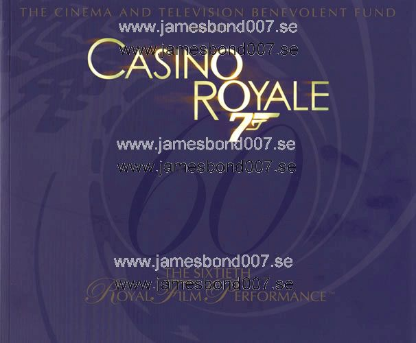 Casino Royale London World Premiere Brochure