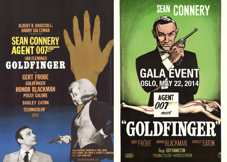 Goldfinger event Oslo poster