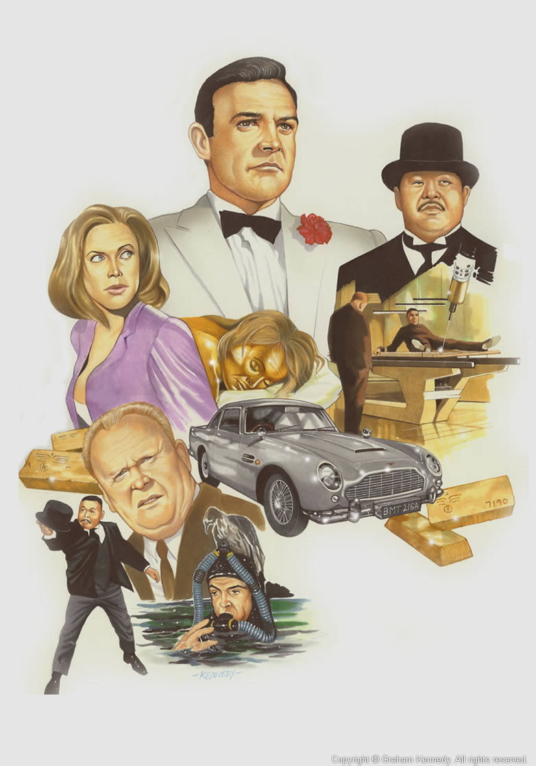 Graham Kennedy Goldfinger artwork