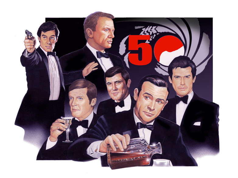 Graham Kennedy James Bond artwork