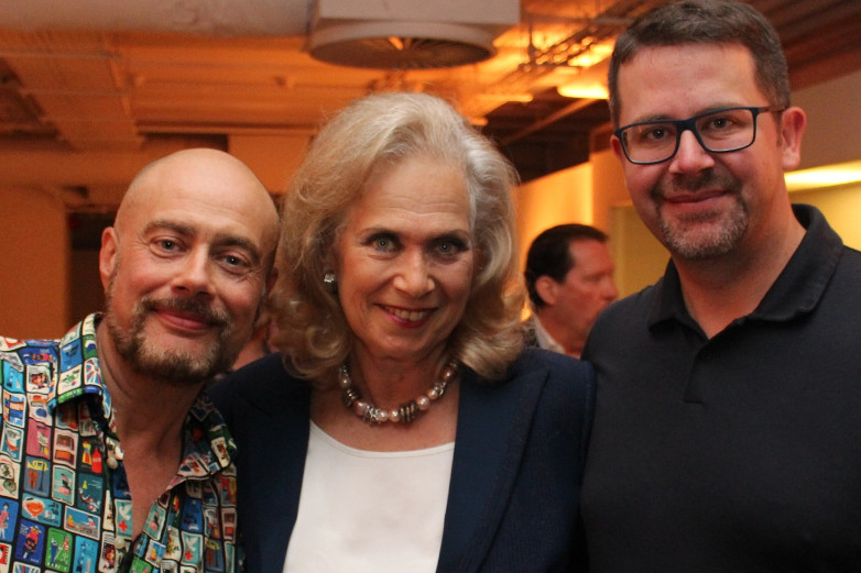 Alan Church, Valerie Leon and Anders Frejdh at Bond in Motion