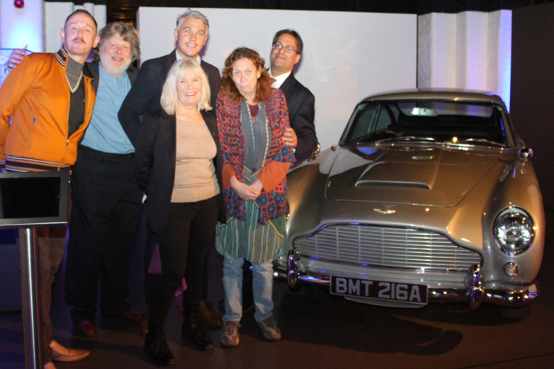 Mark O'Connell, Dave Worrall, Matthew Field, Meg Simmonds, Sally Hibbin and Ajay Chowdhury at Bond in Motion