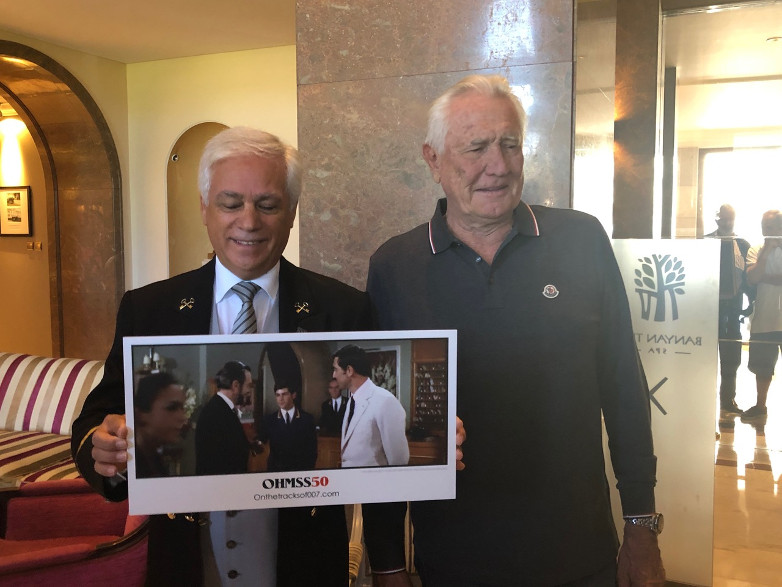 Jose Diogo reunited with George Lazenby