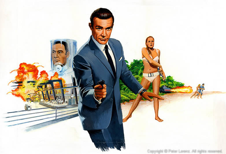 Peter Lorenz Illustrated 007 Doctor No