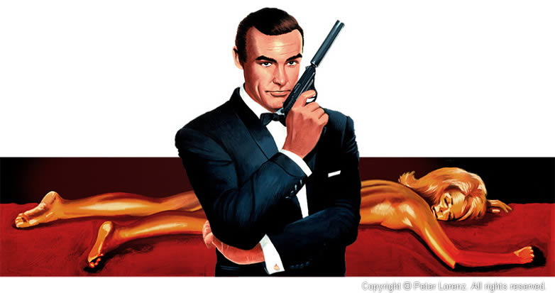 Peter Lorenz Illustrated 007 Goldfinger