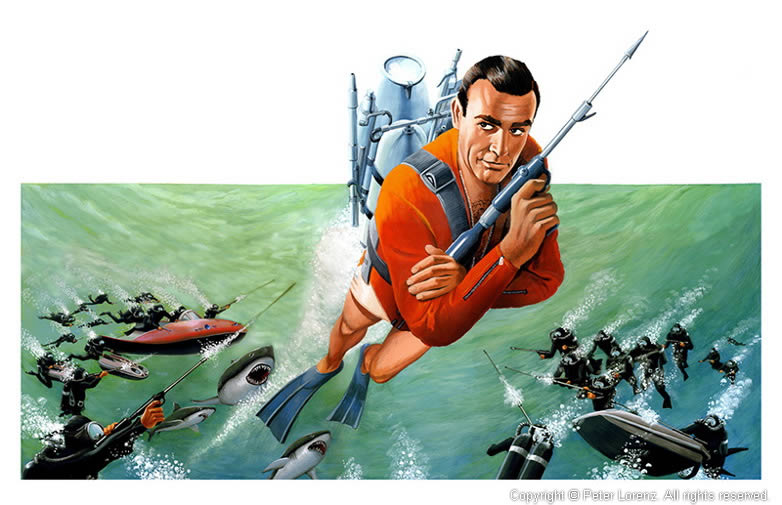 Peter Lorenz Illustrated 007 Thunderball