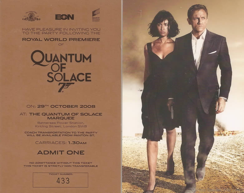 Quantum of Solace London Odeon Leicester Square