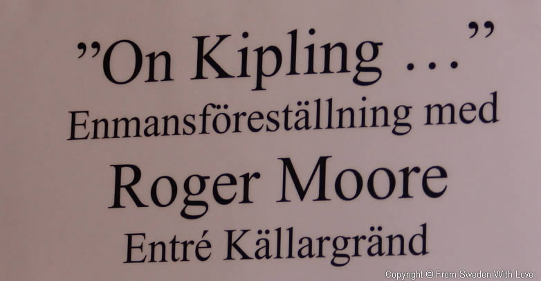 Roger Moore on Rudyard Kipling at Nobel Museum in Stockholm