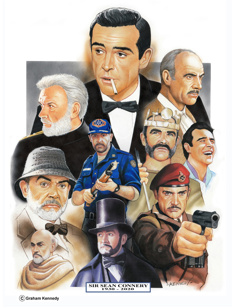 Sean Connery Graham Kennedy artwork