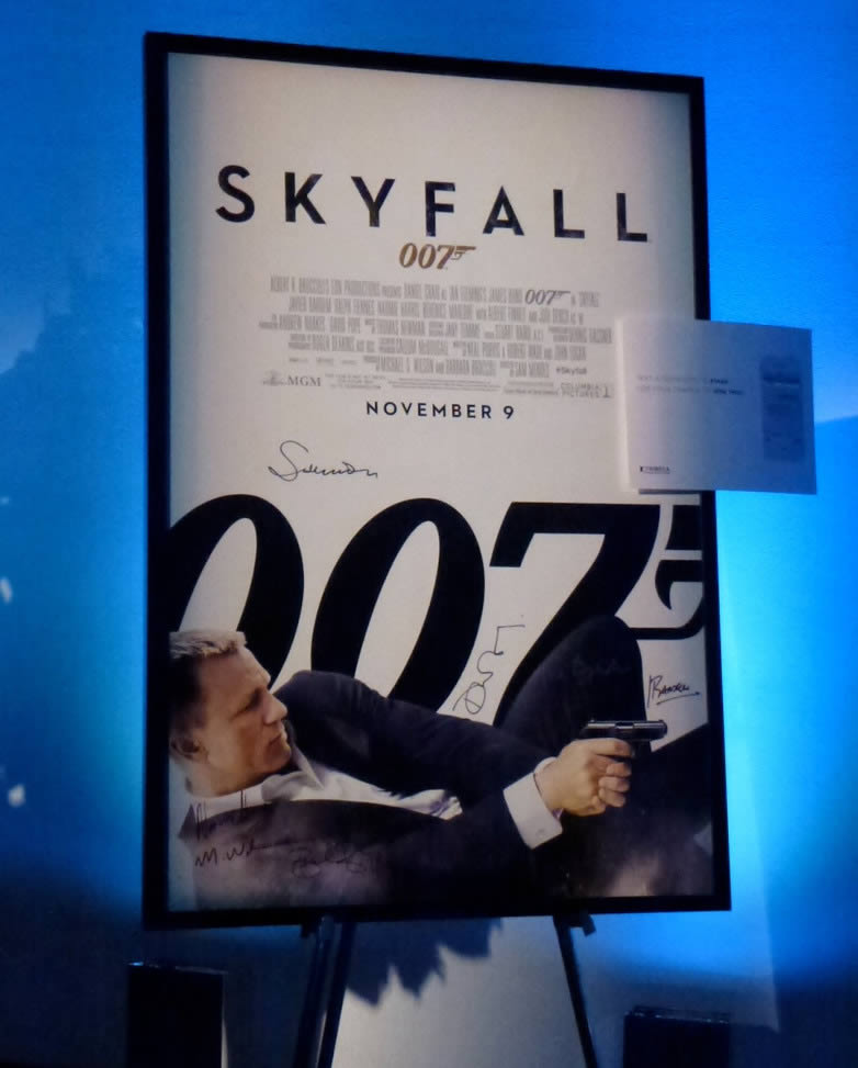 Skyfall New York premiere poster