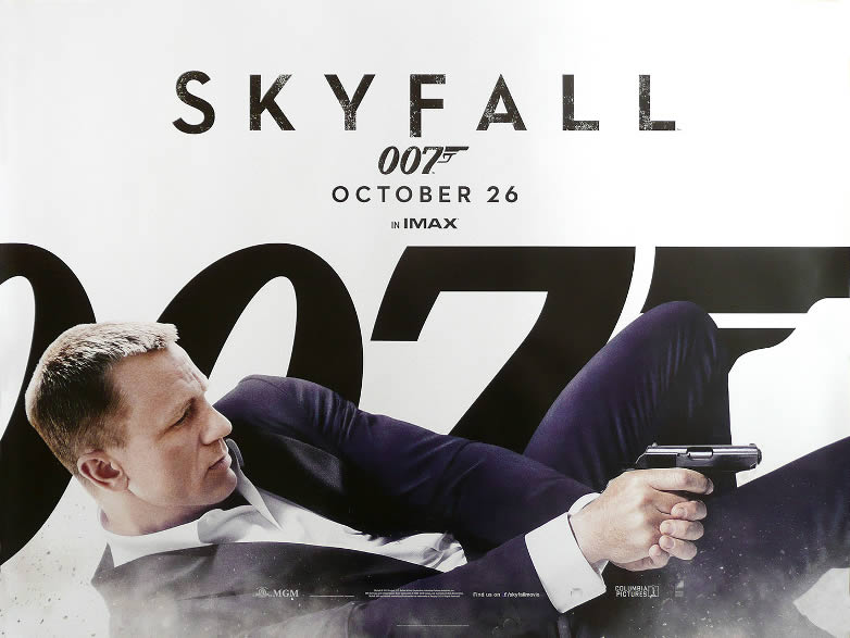 Skyfall quad release poster