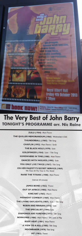 The very best of John Barry 2013