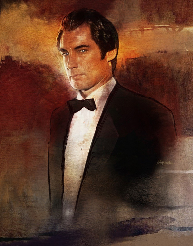 Timothy Dalton as James Bond by Jeff Marshall
