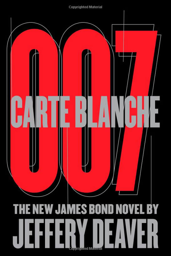 Carte Blanche James Bond novel US hardback