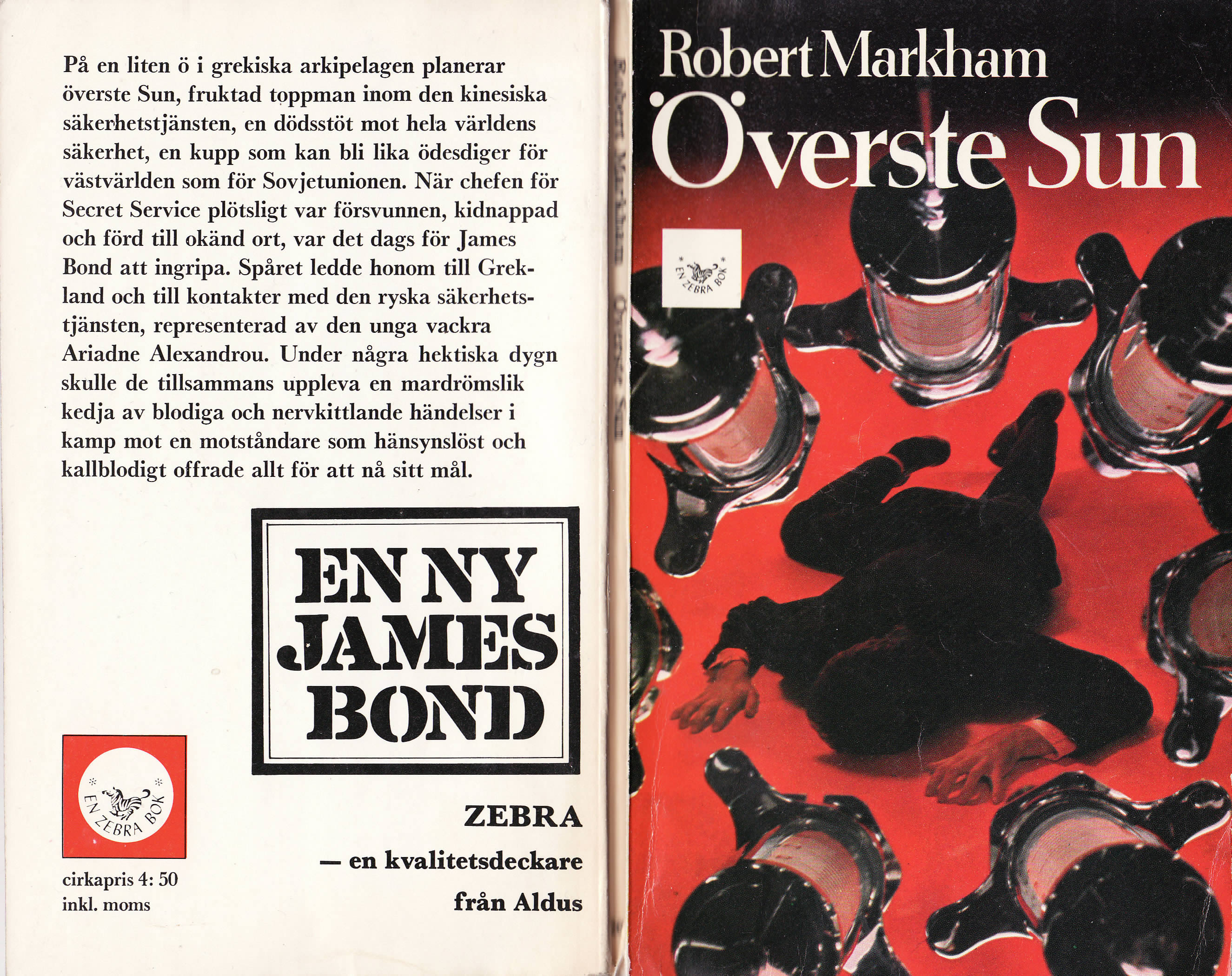 First edition UK hardcover of Colonel Sun (1968)