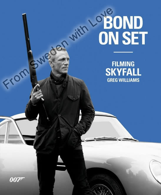 Bond on set filming skyfall 2012