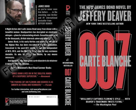 Carte blanche US paperback