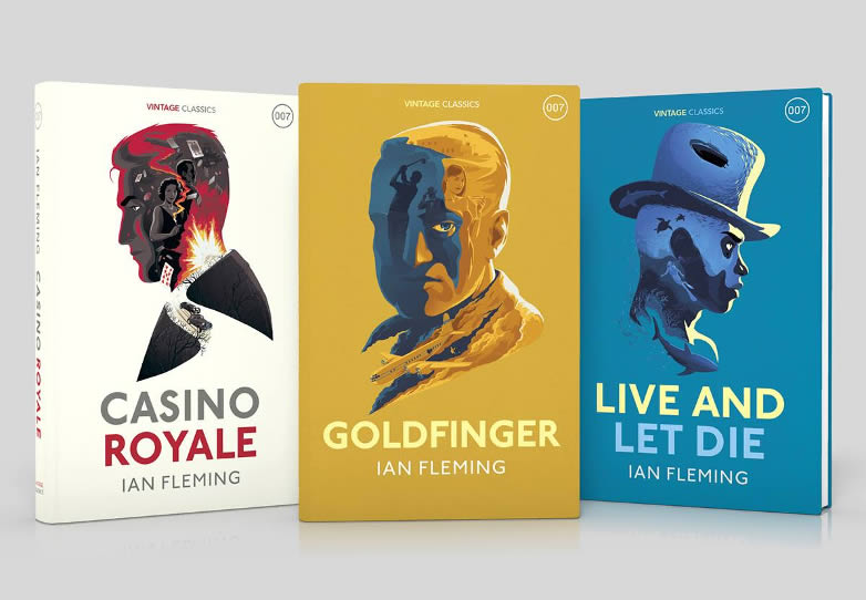 Casino Royale Goldfinger Live and Let Die vintage
