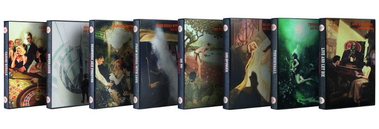 Dr. No, Casino Royale, From Russia with Love, Moonraker, Live and Let Die, The Folio Society