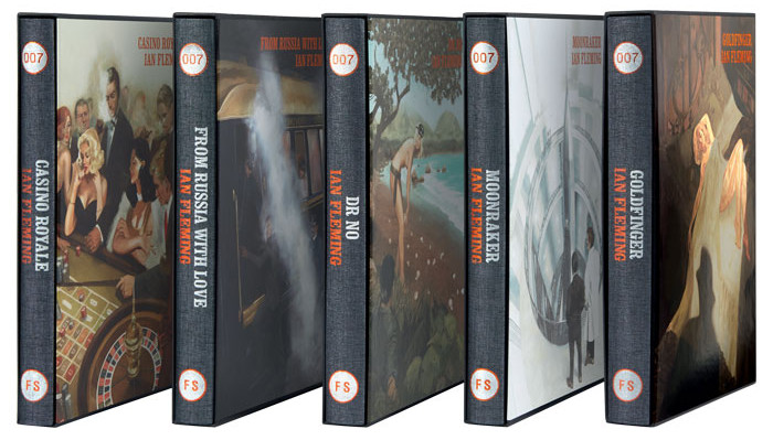 Dr. No, Casino Royale, From Russia with Love, Moonraker, The Folio Society