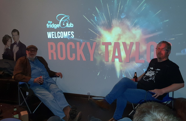Jon Auty in conversation with stuntman Rocky Taylor