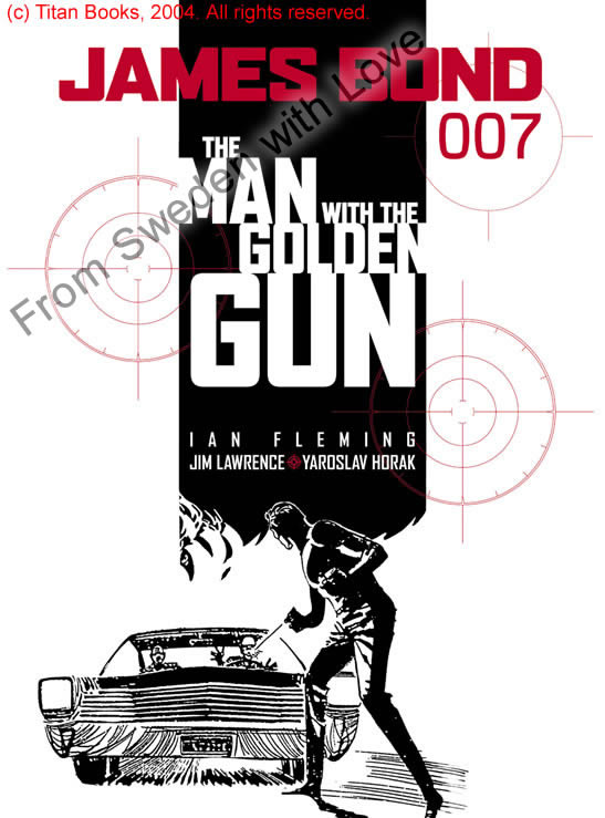 The man with the golden gun graphic novel