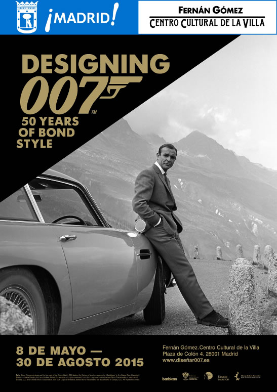 Designing 007 James Bond exhibition Madrid