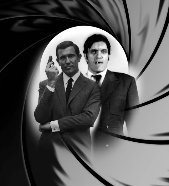 George Lazenby Richard Kiel goes to Australia