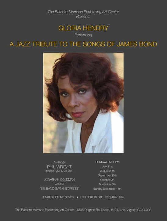 Gloria Hendry James Bond Jazz Tribute
