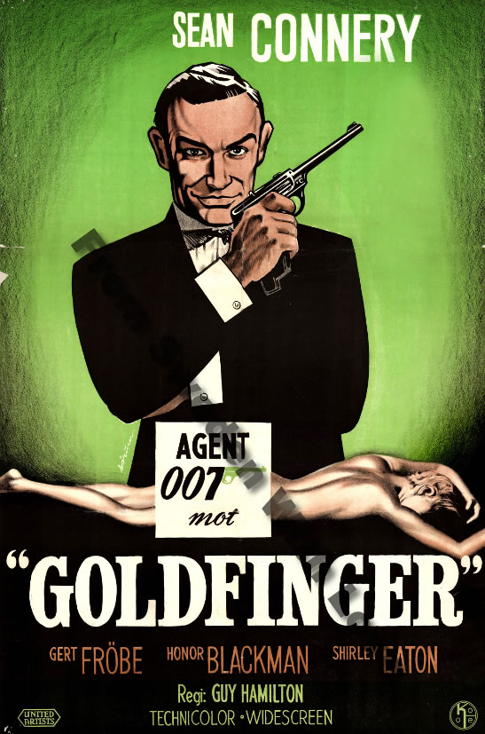 Goldfinger Norwegian film poster