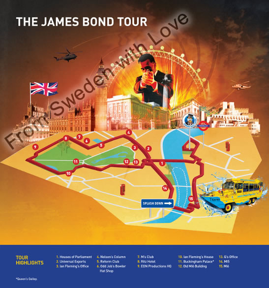 James Bond duck tour map