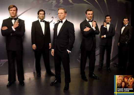 James Bonds at Madame Tussauds New York