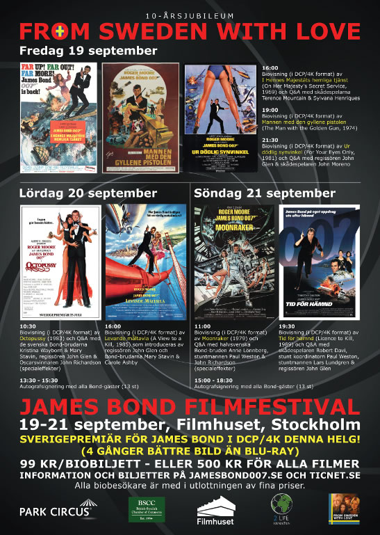 James Bond film festival Stockholm 2014