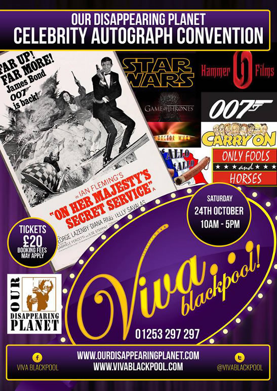 James Bond star Blackpool autograph convention