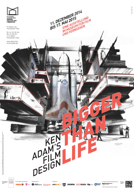 Ken Adam bigger than life film design poster