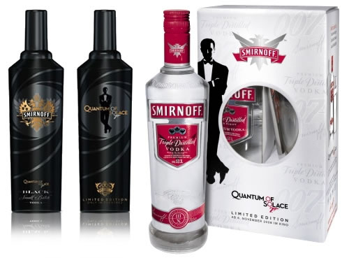 Smirnoff Vodka Quantum of Solace Partnership