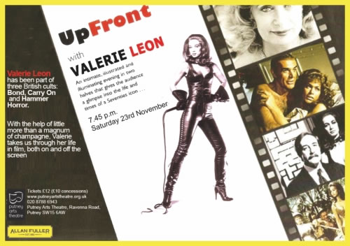 Up Front with Valerie Leon 2013