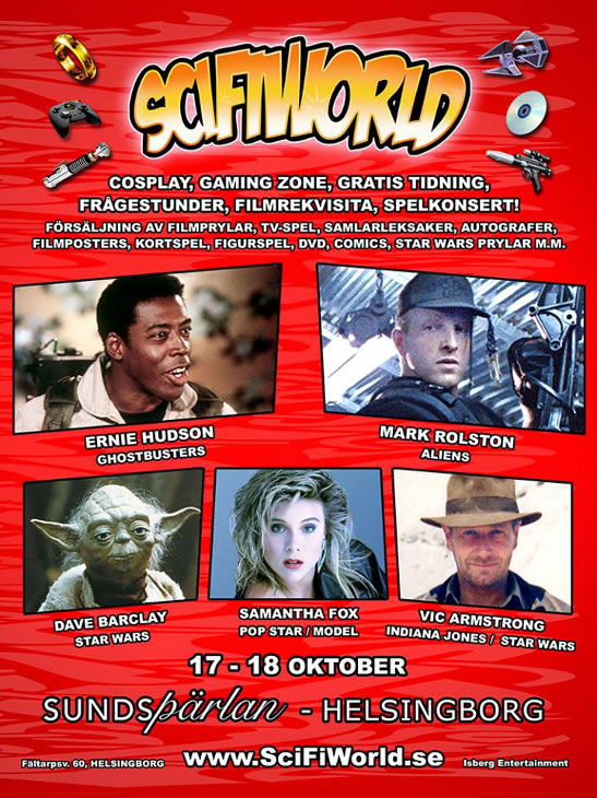 Vic Armstrong ScifiWorld Sweden October 2015