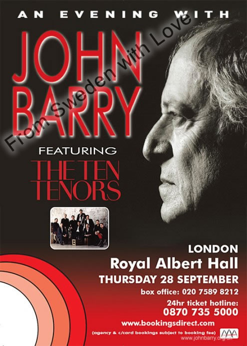 An Evening with John Barry concert