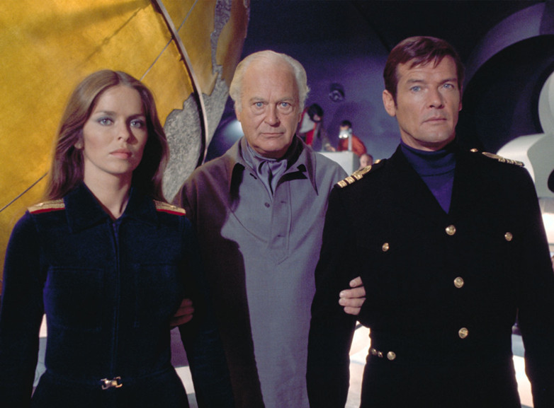 Barbara Bach, Curt Jurgens and Roger Moore in The Spy Who Loved Me