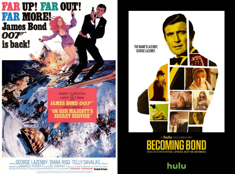 On Her Majestys Secret Service and Becoming Bond posters with George Lazenby