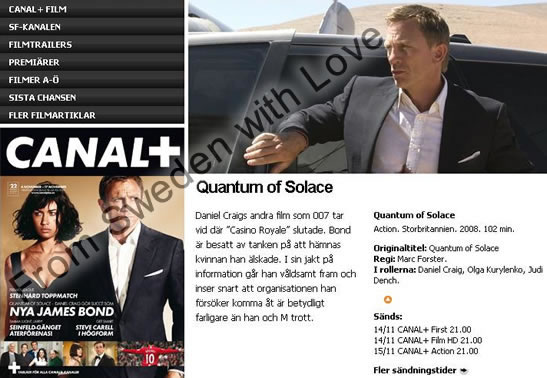 Canal plus Quantum of Solace