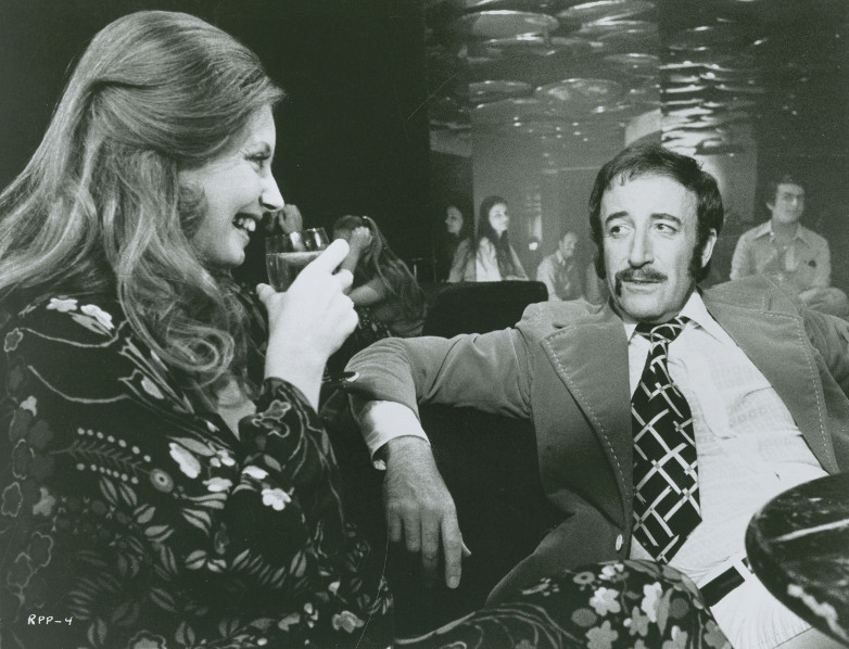 Catherine Schell and Peter Sellers in The Return of the Pink Panther