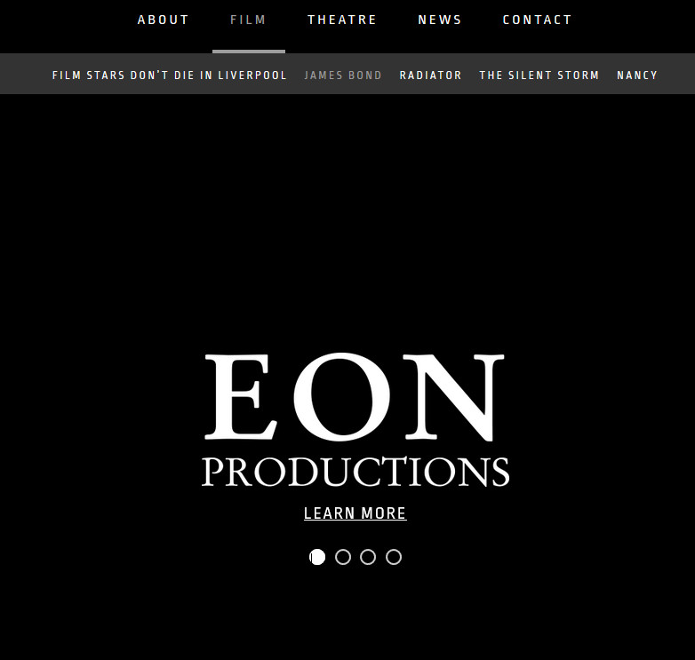 Eon Production official website